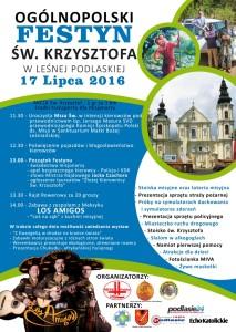 Plakat festyn sw Krzysztof 2016 - Leśna Podlaska